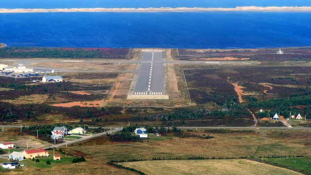 A view from Iles-de-la-Madeleine Airport