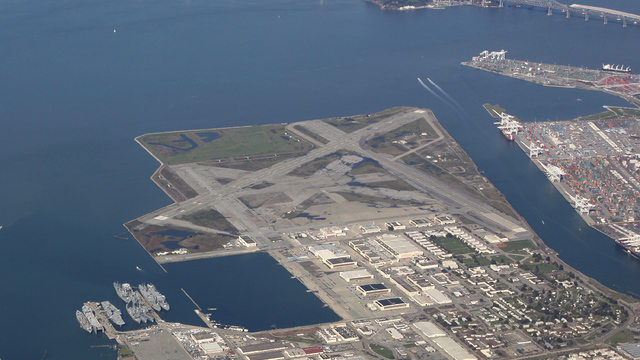 A view from Alameda Naval Air Station