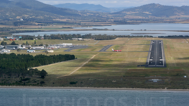 A view from Hobart International Airport