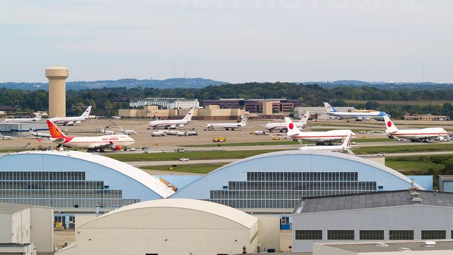 A view from Pittsburgh International Airport