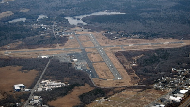 A view from New Bedford Regional Airport