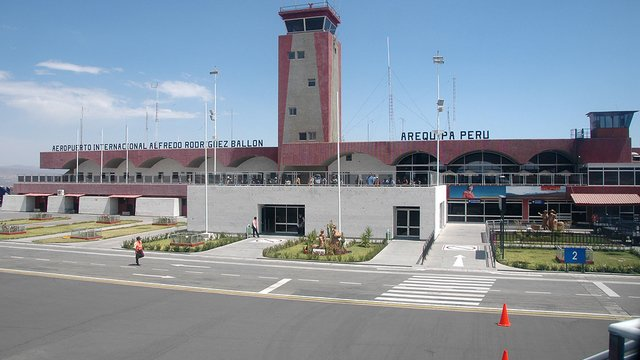 A view from Arequipa Rodriguez Ballon International Airport
