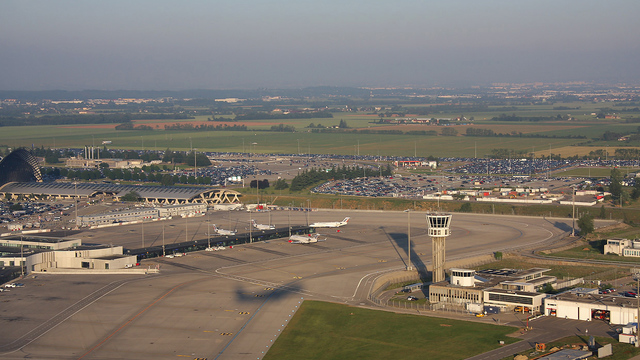 A view from Lyon Saint Exupery Airport