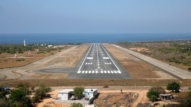 A view from Puerto Escondido International Airport