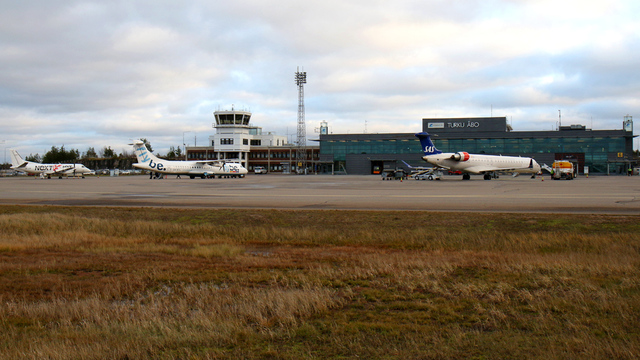 A view from Turku Airport