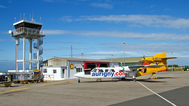 A view from Alderney Airport