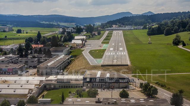 A view from La Chaux-de-Fonds Les Eplatures Airport