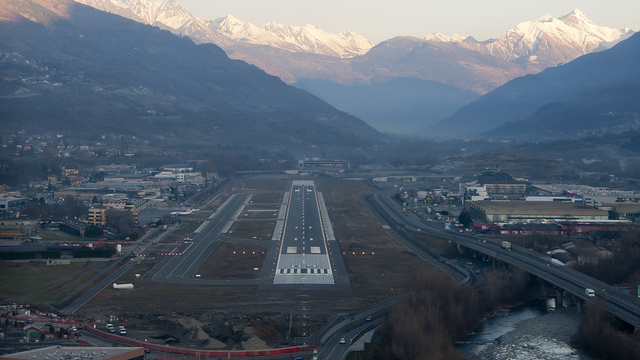 A view from Aosta Airport