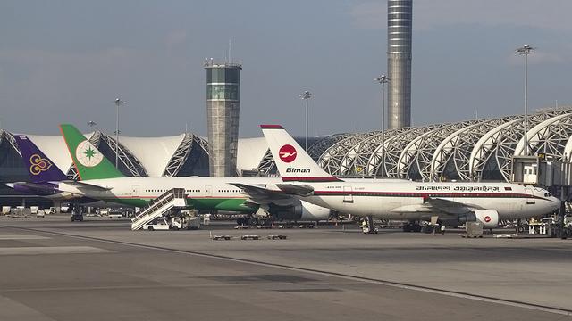 A view from Bangkok Suvarnabhumi Airport
