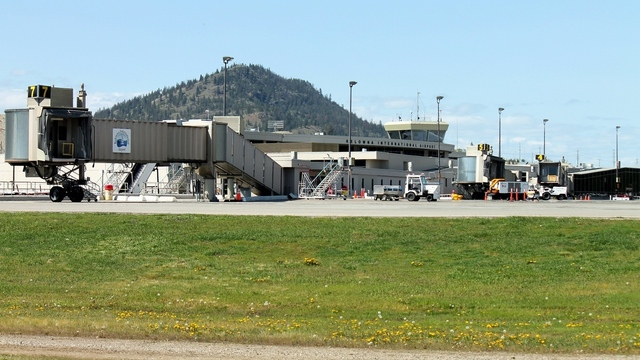 A view from Kelowna International Airport