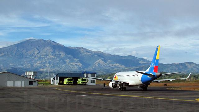 A view from Pasto Antonio Narino Airport