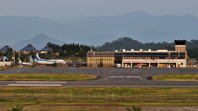 A view from Tajima Airport