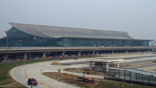 A view from Shenyang Taoxian International Airport