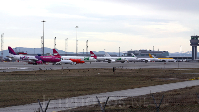 A view from Sofia Airport