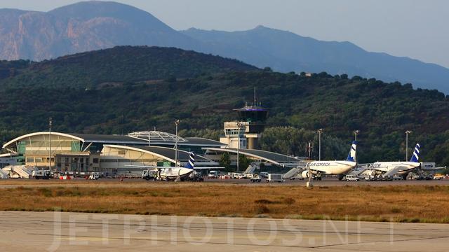 A view from Ajaccio Napoleon Bonaparte Airport
