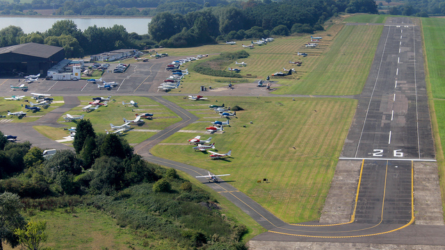 A view from London Elstree Aerodrome