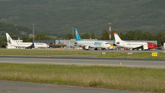 A view from Trondheim Vaernes Airport