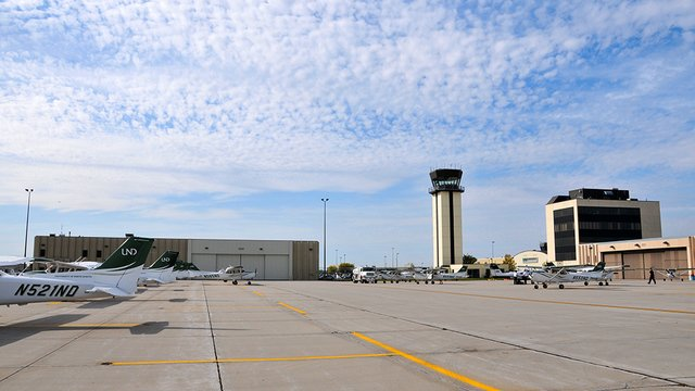 A view from Grand Forks International Airport