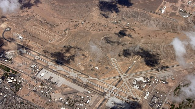 A view from Albuquerque International Airport