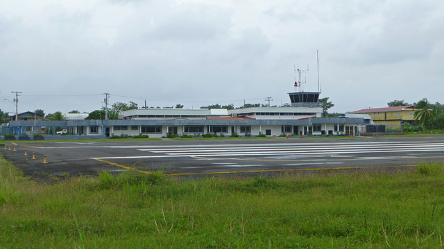 A view from Bocas Del Toro International Airport