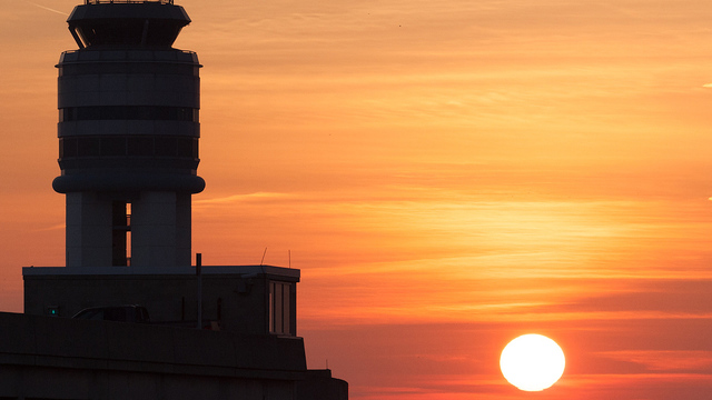 A view from Columbus John Glenn International Airport
