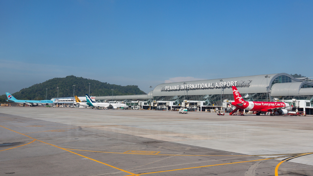 A view from Penang International Airport