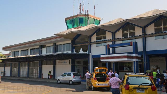 A view from Santa Marta Simon Bolivar International Airport
