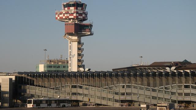 A view from Rome Leonardo da Vinci Fiumicino Airport