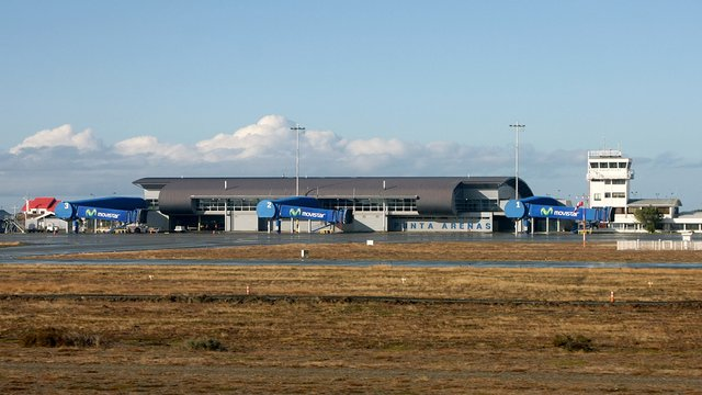 A view from Punta Arenas International Airport