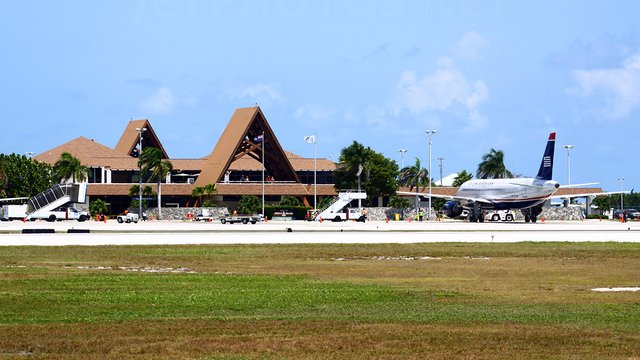 A view from George Town Owen Roberts International Airport