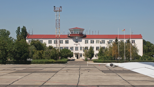 A view from Odesa International Airport