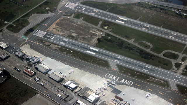 A view from Oakland International Airport