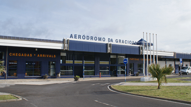 A view from Graciosa Airport