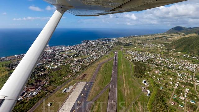 A view from Basseterre Robert L. Bradshaw International Airport