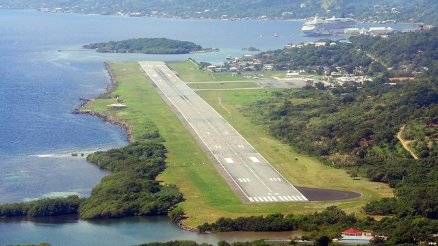 A view from Roatan International Airport
