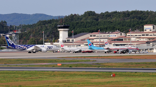 A view from Okayama Airport