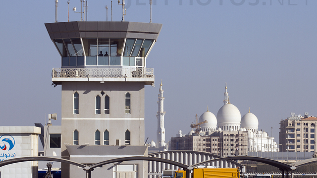 A view from Abu Dhabi Al Bateen Executive Airport