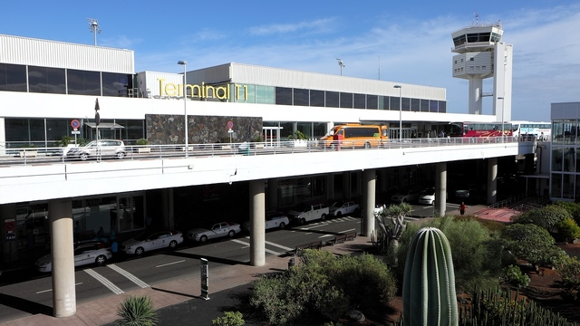 A view from Lanzarote Airport