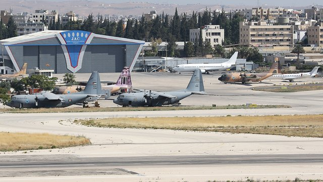 A view from Amman Civil Airport