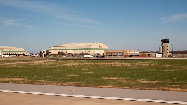 A view from Bentonville Northwest Arkansas Regional Airport