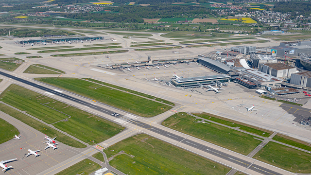 A view from Zurich Airport