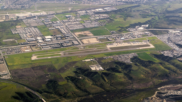 A view from San Diego Brown Field Municipal Airport