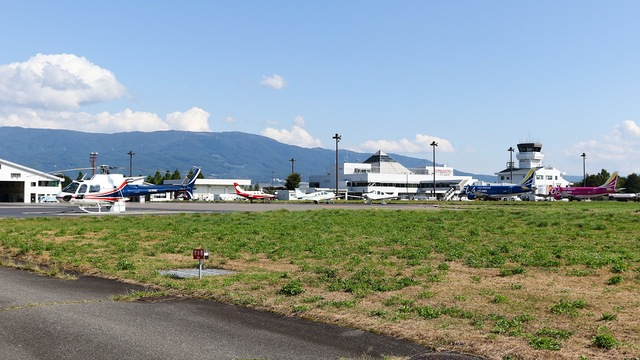 A view from Matsumoto Airport
