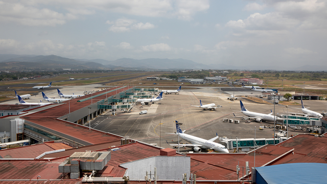 A view from Panama City Tocumen International Airport