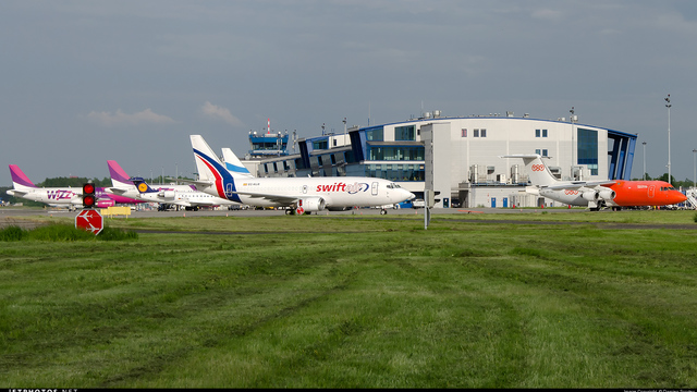 A view from Katowice International Airport