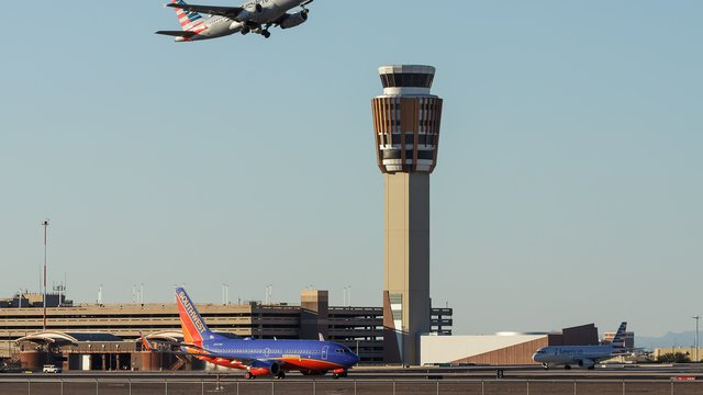 A view from Phoenix Sky Harbor International Airport