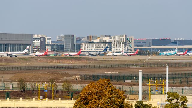A view from Shanghai Hongqiao International Airport