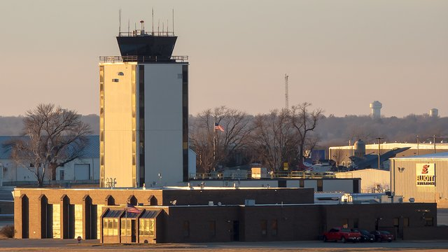 A view from Des Moines International Airport