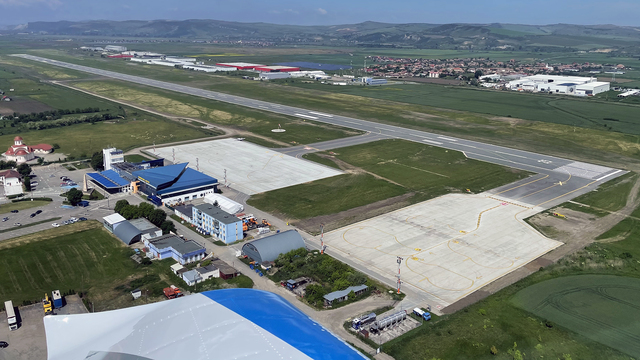 A view from Targu Mures International Airport