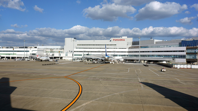 A view from Fukuoka Airport